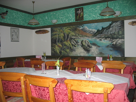 Lepena restaurant, Julian Alps
