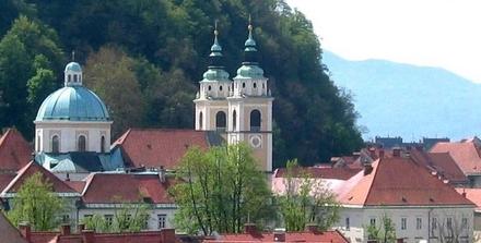 Stolnica sv. Nikolaja, Ljubljana z okolico