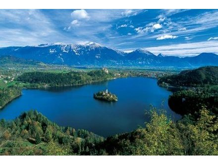 The Bled lake with an island, Bled