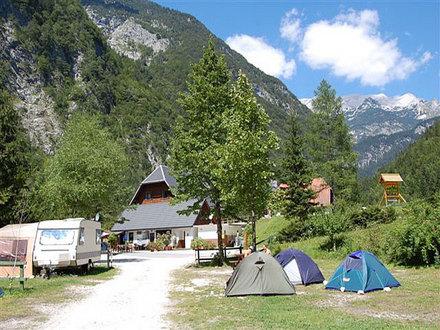 Camping Trenta - source of the Soča river, Soča Valley