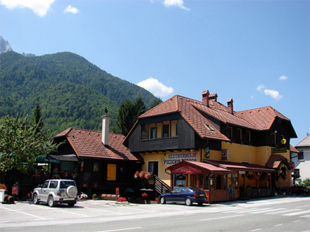 Restaurant and pizzeria Jožica, Julian Alps