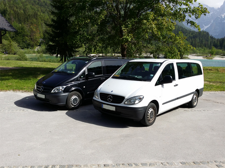 Pehta taxi, mini bus, Julian Alps