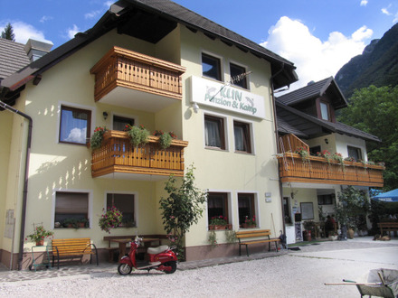Pension und Zimmer Klin Lepena, Soča Tal
