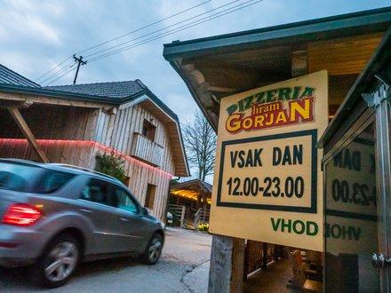 Pizzeria Hram Gorjan, Ljubljana z okolico