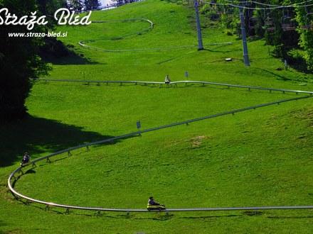 Summer sledding Straža Bled, Bled