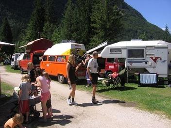Campeggio Korita di Soča, Valle dell' Isonzo